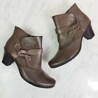 [ EARTH SPIRIT ] Womens Brown Leather Ankle Boots / Shoes | Size EUR 41