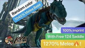 ark pc pve 1270%💪Melee Giga ,Giganotosaurus 100% imprint 36K HP, random color