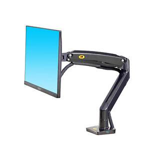 "NEW F100A Full Motion Gas-Strut Desktop stand 3kg-12kg Bracket up to 35"" Monitor"