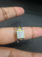 Pave 0,75 Cts Runde Brilliant Cut Diamanten Herrenring In Solides 14K Gelbgold