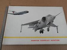 DEPLIANT ORIGINALE HAWKER SIDDELEY BUCCANEER AVIATION AEREO PLANE VINTAGE