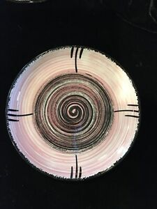 """Stetson China Co. 1955 Whirlpool Pink Breathless Swirl 6"""" Saucer 8 Available"""
