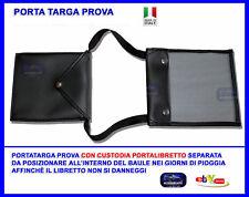 Porta Targa Prova Astuccio Portatarga Prova libretto per documenti custodia