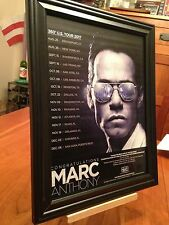 BIG 10x13 FRAMED MARC ANTHONY 2017 360 DEGREE TOUR LP ALBUM CD PROMO AD w DATES!