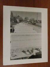 Vintage Glossy Press Photo Natick MA Granite Curbing Along Route 135 5/88