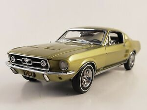 "Danbury Mint 1967 Mustang GT Fastback  ""LIME GOLD POLY""  w/ Paperwork  Ltd Ed"