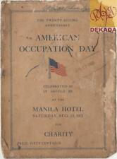 1921 Philippines AMERICAN OCCUPATION DAY 22nd Anniversary Sponsors Book