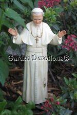 Pope John Paul II 14inch Statue Plaster Chalkware Imported Handmade Handpainted