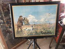 ORIGINAL Antique Vintage Utica Duxbak TIN ON CARDBOARD Advertising Sign