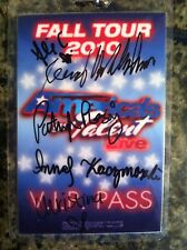 America's Got Talent 2010 Fall Tour signed V.I.P Pass autographed tv show