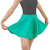 Girls Short Circular Ballet Skirt Costume Shiny Nylon Lycra by Dance Gear LCSS