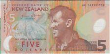 New Zealand banknote P185 5 Dollars (20)14 Polymer,  UNC  We Combine
