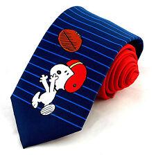 QB Snoopy Mens Neck Tie Snoopy Peanuts Comic Football Red Necktie Shultz New