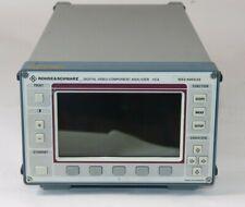 Rohde Amp Schwarz 1052400302 Digital Video Component Analyzer Vca Tested Hs