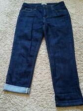 St. John's Bay Jean Capri Cropped Pants size 6 - dark wash