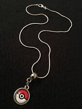 Pokemon Go Pokeball Necklace Pendant Charm Pikachu Valor Mystic Instinct Kids