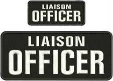 LIAISON OFFICER EMBROIDERYPatch 4x10 and 2x5 hook on backBLK/WHITE