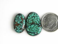 Natural Turquoise Mint Green Rare Web Cabs Gems beautiful pure Tibet t006