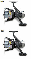 2 x LINEAEFFE FREE SPOOL SYSTEM CARP 60 FISHING RUNNER REEL PRE-LOADED 3 BB