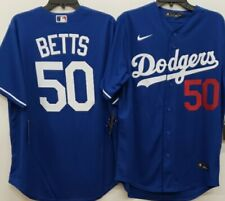 "01022 NIKE Los Angeles Dodgers MOOKIE BETTS ""REAL"" Baseball JERSEY MEDIUM"