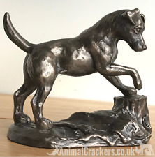 More details for genuine cold cast bronze jack russell terrier ornament figurine by harriet glen