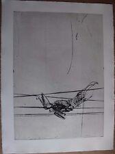 Gravure etching signée num DADO Suite Haendel surréalisme surrealism 1990 pl.9