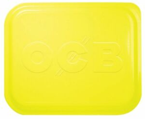 1 x Small OCB Rolling Tray Lid Cover Yellow 7 x 5 Free Same Day Express Shipping