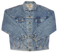 Vintage Levi's Men's Plaid Lined Trucker Denim Jean Jacket Size XL USA