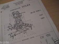 Fiat 1300, Solex 28 - 32 PAIA/1 -  Vergaserplan
