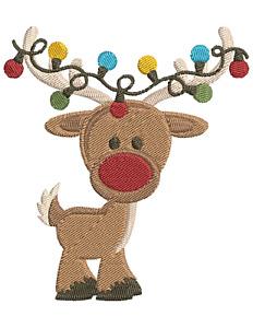 CHRISTMAS REINDEER Embroidery Machine Design Pattern PES JEF HUS EXP DST VP3