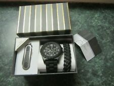Folio Brand Men's Designer Watch Modern Weave Bracelet & Multi-tool Gift Set