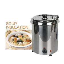 Electric Commercial 5.7L Soup Kettle Warmer Pot Wet Heat Stainless Steel Buffet
