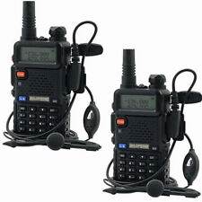 2x BaoFeng UV-5R VHF/UHF 2M/70CM  Dual Band FM Two-way Ham Radio + Earpieces
