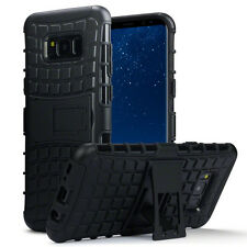 Samsung Galaxy S8 PLUS Rugged Case Impact déplacement Ballistic Shell & Stand