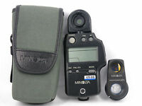 MINOLTA AUTO METER IV F Flash Light Meter W/ViewFinder 10° II & CASE JAPAN