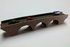 NEW MODEL Z GAUGE Z SCALE MODEL LARGE THREE ARCH STONE BRIDGE  LASER ENGRAVED
