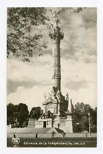 Columna de la Independencia in Mexico City, Mexico B&W RPPC Postcard