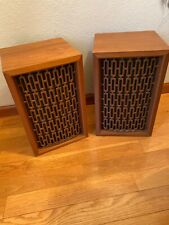 Vintage Olson S-85 Wood Grain Mid Century Modern MCM Speakers