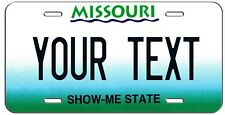 PERSONALIZED MISSOURI SHOW ME STATE VANITY LICENSE PLATE AUTO TAG
