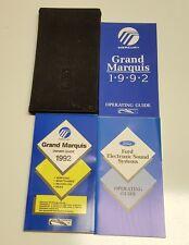 1992 MERCURY GRAND MARQUIS OWNERS MANUAL OPERATORS USER GUIDE GS LS V8 4.6L SET
