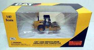 1/87 HO Norscot Models Caterpillar CAT Smooth Drum Vibratory Soil Compactor