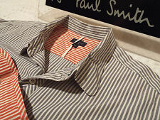 """PAUL SMITH Mens Shirt 🌍 Size XL (CHEST 44"""") 🌎 RRP £95+ 🌏 STRIPED & CONTRASTS"""
