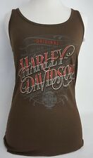 Harley-Davidson Women's Gunslinger Aleeveless Tank Top-Cocoa Color Wmn Sz Medium