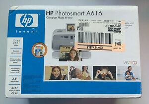 HP PHOTOSMART A616 COMPACT PHOTO PRINTER, NEW IN OPEN FACTORY BOX, NOB