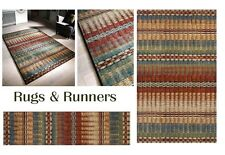 Florenza Abstract Deco Shabby Chic Vintage Rugs and Hall Runner Rug Soft Durable