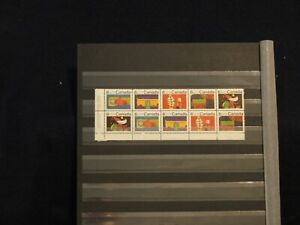 #524-28 - INSCRIPTION BLOCK OF 10 CHRISTMAS STAMPS -  MNH