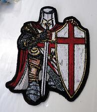 P4 Christian Knights Templar Iron on Patch Biker Crusade Sword Shield