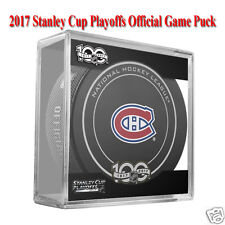 MONTREAL CANADIENS 2017 STANLEY CUP PLAYOFFS NHL OFFICIAL GAME PUCK w/Puck Cube