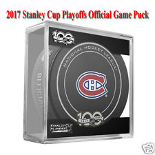 2017 STANLEY CUP PLAYOFFS OFFICIAL GAME PUCK - Montreal Canadiens - w/Puck Cube