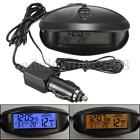 Car In/Out Digital LCD Temperature Thermometer F/C Clock Voltage Meter Monitor